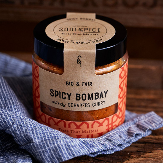 Spicy Bombay scharfes rotes Curry (Bio)